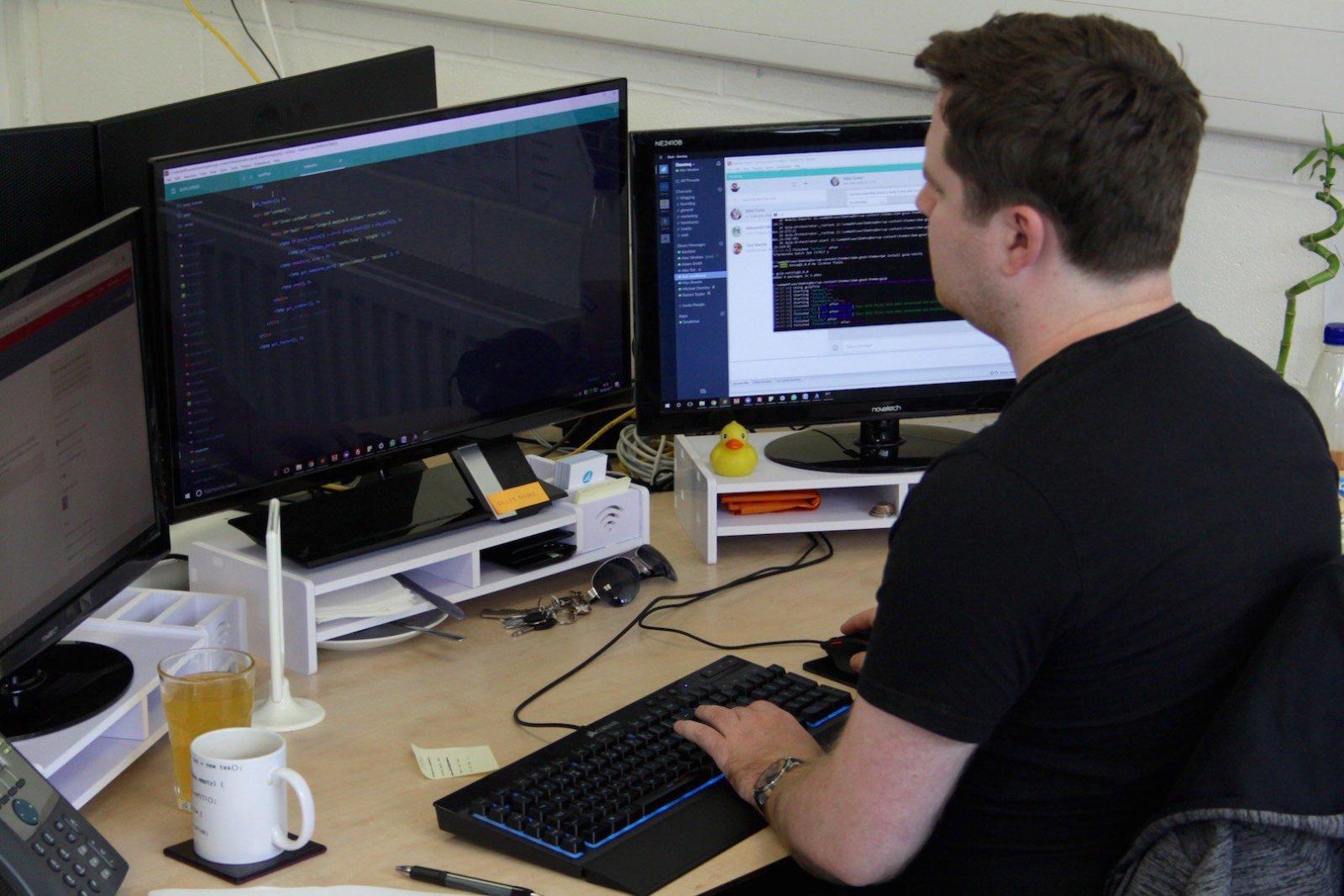 Bespoke Customer Framework being worked on by Damteq Developer
