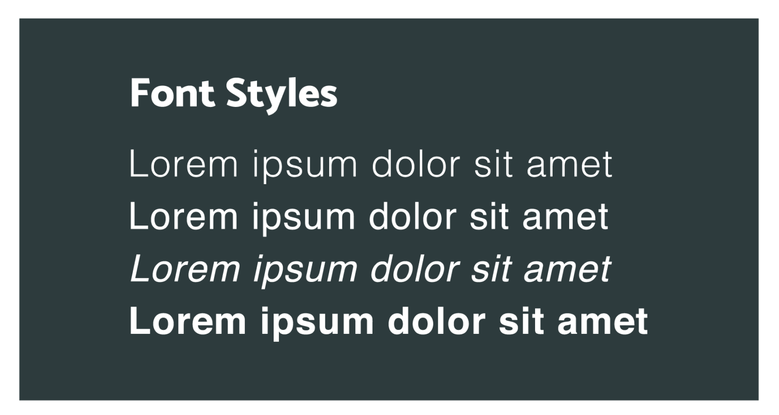 Font Styles - Digital Marketing Agency