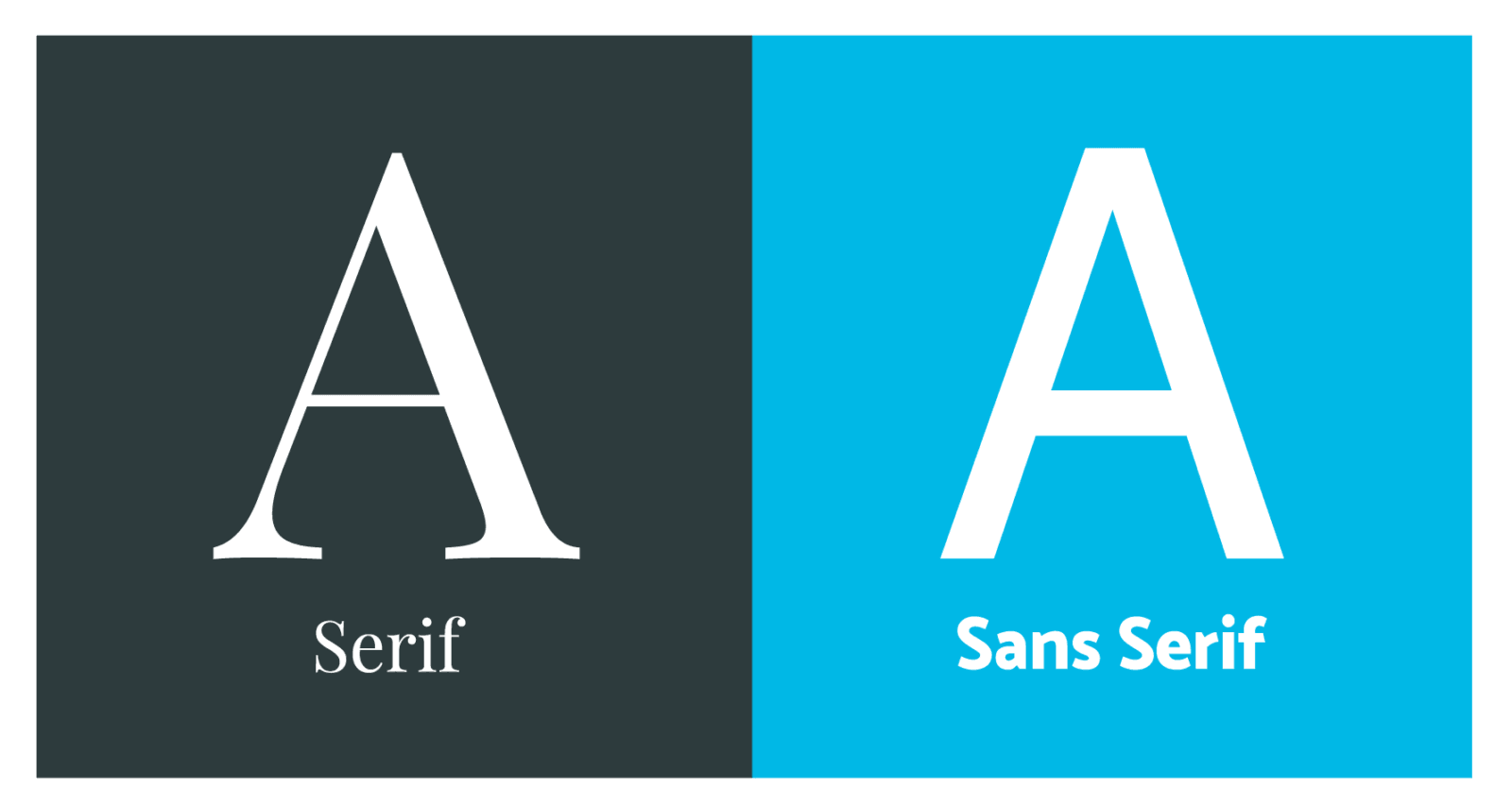 Examples of a Sans Serif and a Serif font