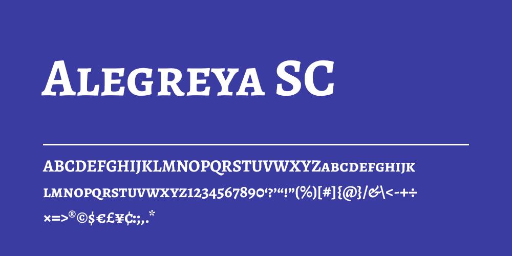 Alegreya SC