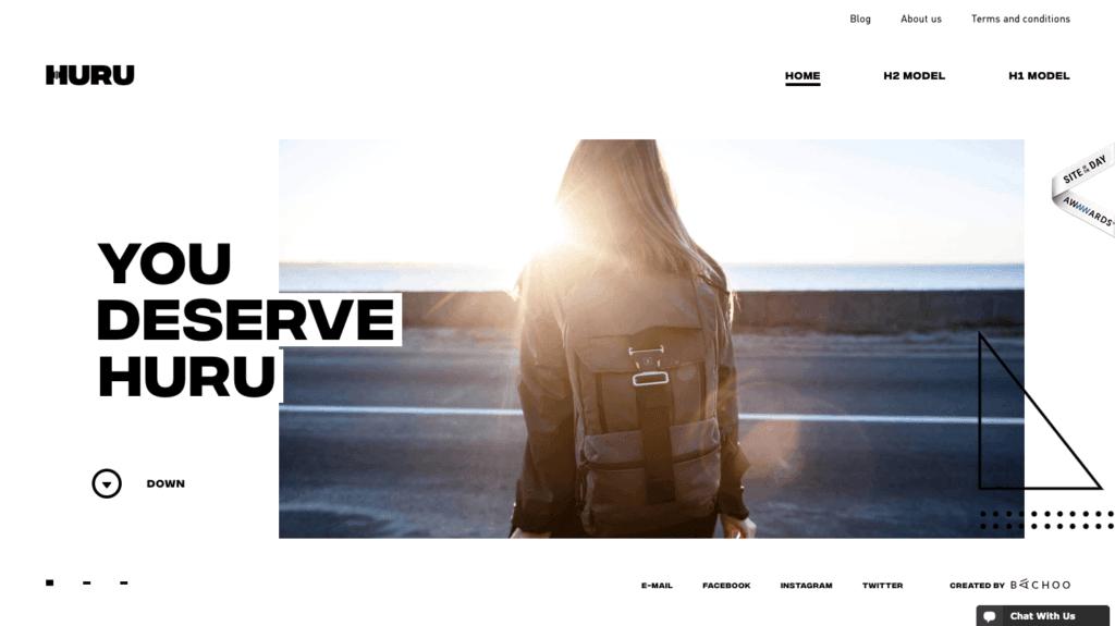 Huru Monochrome Website Design - Digital Marketing Agency